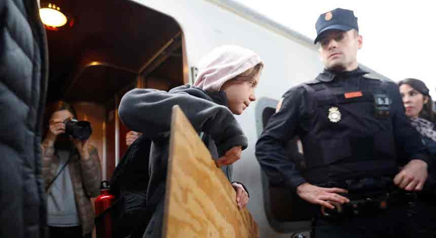 Marcha pelo Clima em Madrid com Greta Thunberg