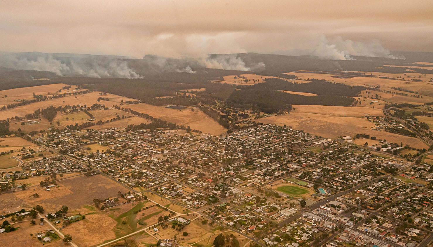 A área de Osbost ameaçada pelo incêndio de East Gippsland | Jason Edwards - EPA