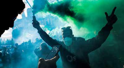 Confrontos entre adeptos e forças de segurança junto ao Estádio José Alvalade