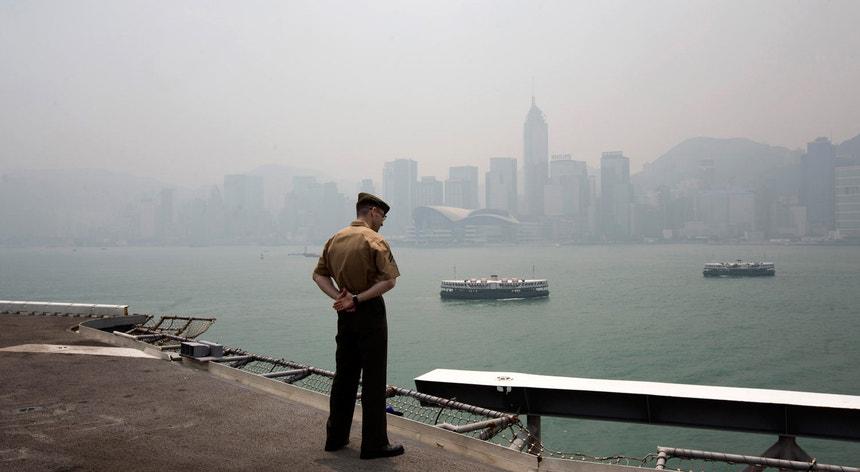 As visitas anuais de navios da marinha norte-americana a Hong Kong acontecem há algumas décadas