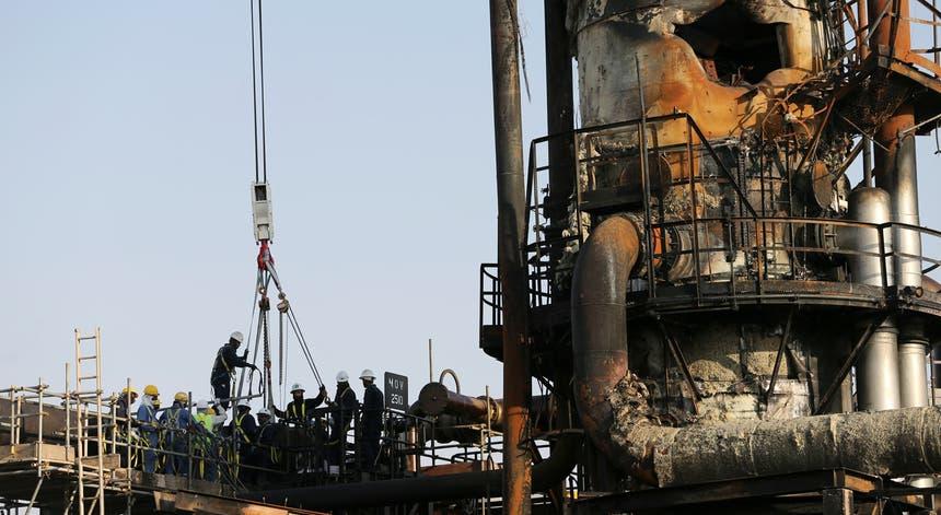 O ataque contra as instalações sauditas comprometeu as operações da Aramco esteve na origem da maior subida de preços do petróleo desde a guerra do Golfo,