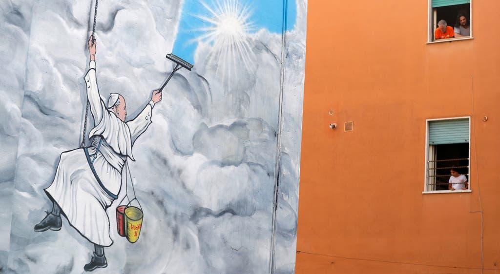 Papa em mural