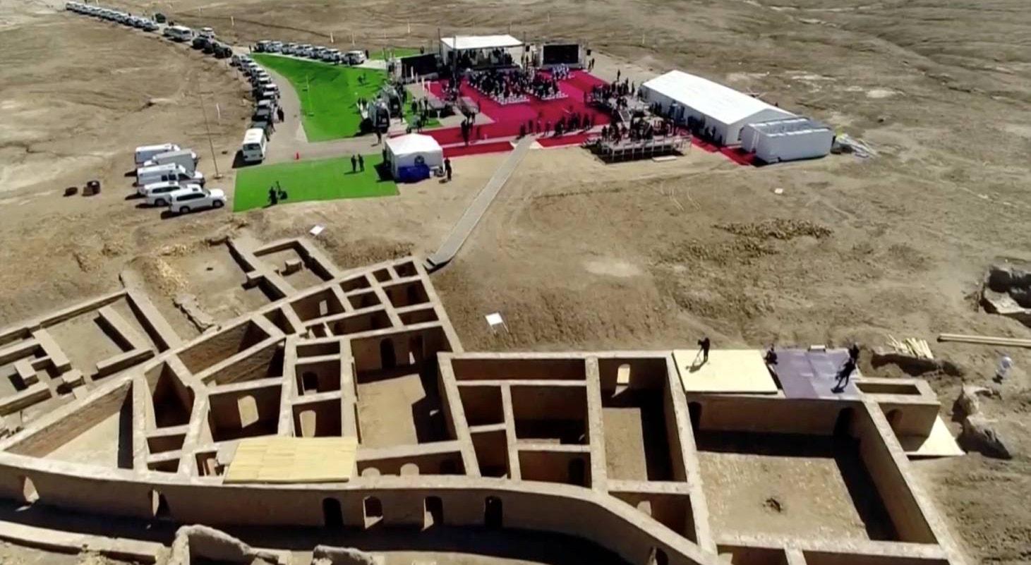 Sitio arqueológico do complexo religioso da antiga cidade de Ur. Biblicamente considerado casa de Abrão.Papa participa num encontro inter-religiões | Iraqiya TV/Reuters
