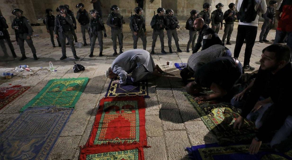 Tensão entre militares israelitas e palestinianos em Jerusalém | Ammar Awad - Reuters