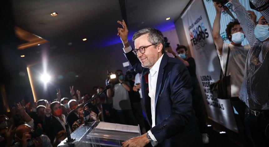 Carlos Moedas presidente eleito da Câmara Municipal de Lisboa nas eleições autárquicas 2021