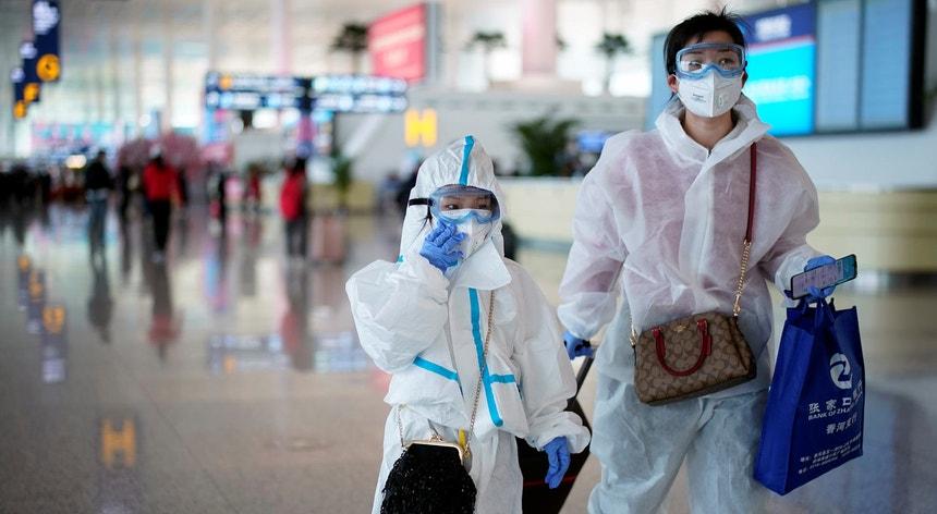 Aeroporto de Wuhan onde foram levantadas as restrições de circulação