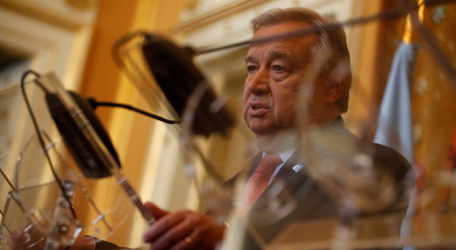 Resultado de imagem para Mundo livre de armas nucleares continua longe, admite António Guterres