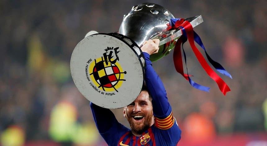 Um golo do argentino Lionel Messi, aos 62 minutos, deu o triunfo ao FC Barcelona