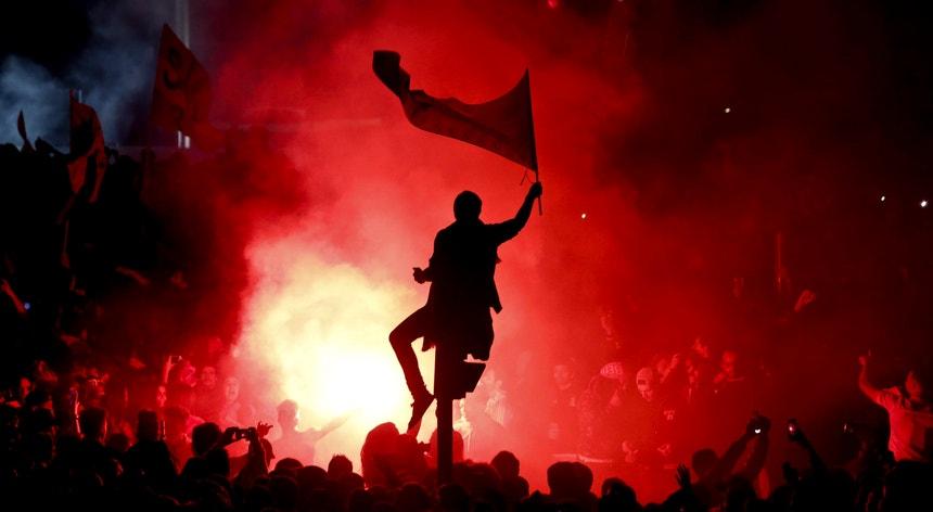 O Benfica divulgou o esboço de uma festa para festejar o esperado título de campeão
