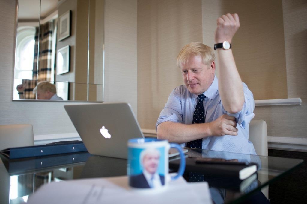 Boris Johnson prepara o discurso principal para a conferência do Partido Conservador em Manchester.  1 outubro 2019. Stefan Rousseau/Pool via REUTERS