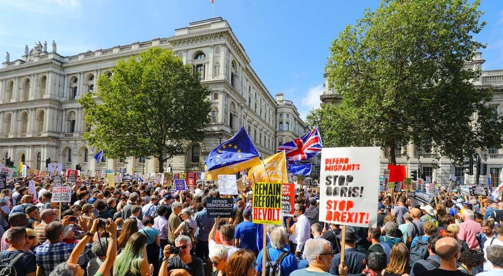 Londres em protesto