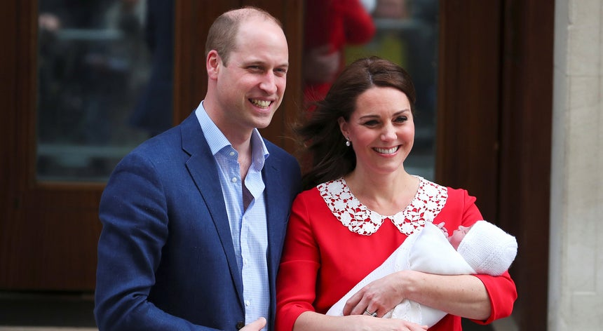 Nome do terceiro filho do príncipe William e Kate Middleton é Louis Arthur Charles