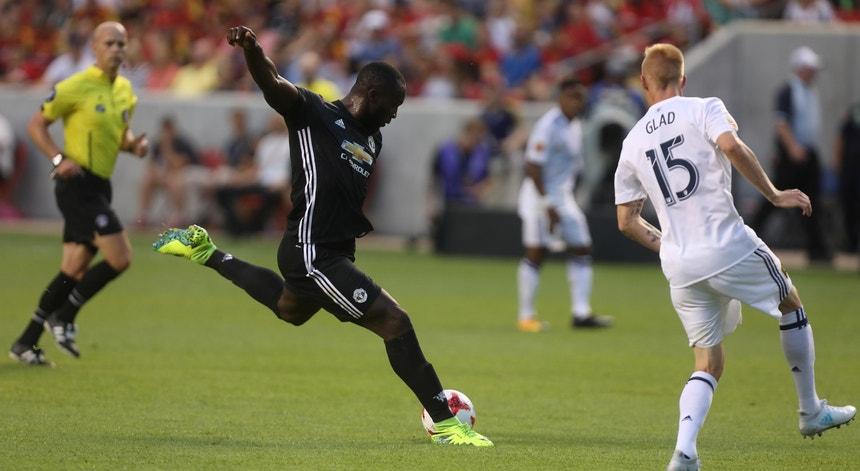Lukaku marcou o primeiro golo com a camisola do Manchester United