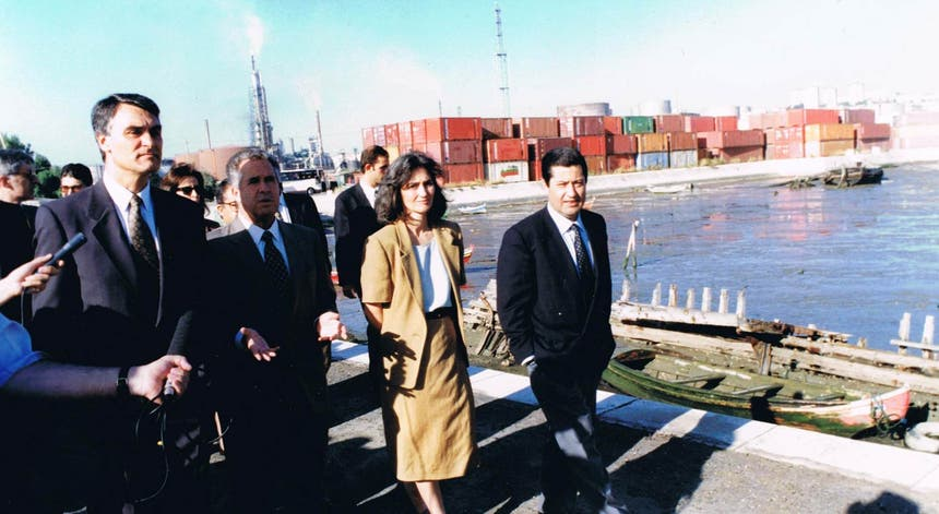 Cavaco Silva nas obras da Expo'98 - D.R./PSD