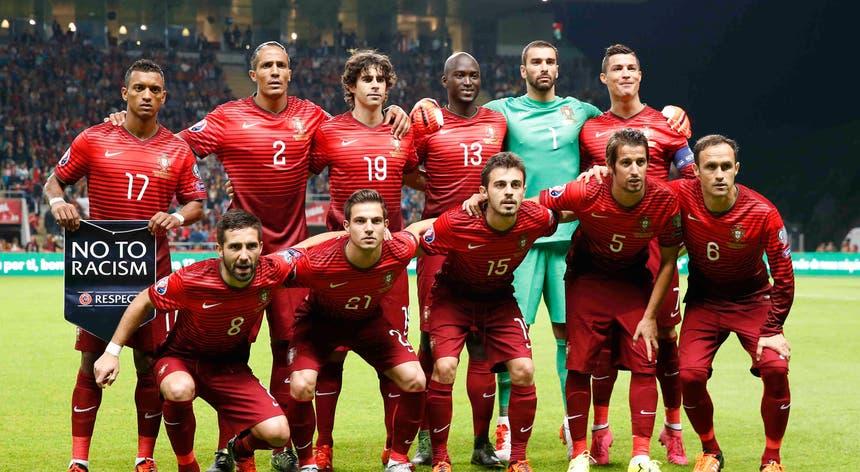Equipa de Portugal que entrou contra a Dinamarca