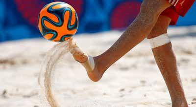 Qualificação para Mundial de futebol de praia entre 25 de junho e 5 de julho