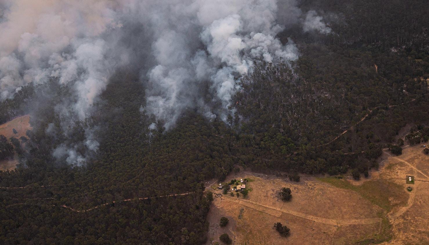 Propriedade sob ameaça do incêndio de East Gippsland, Victoria | Jason Edwards - EPA
