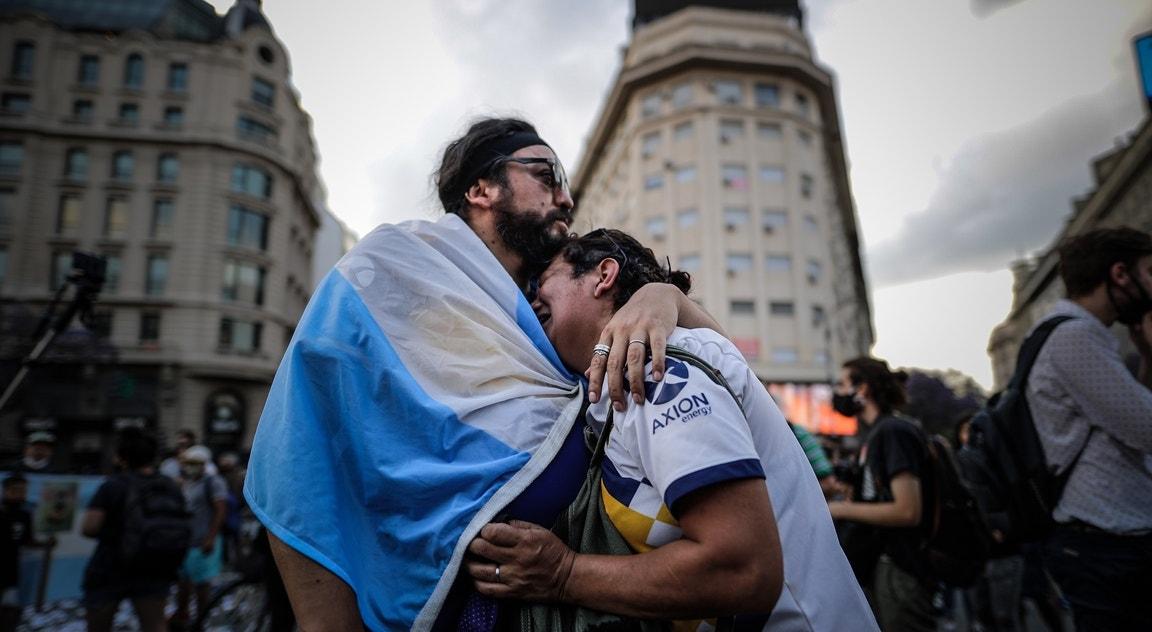 Argentina, Buenos Aires. Tristeza no adeus a Maradona   Juan Ignacio Roncoroni - EPA