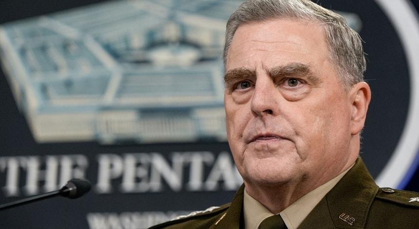 O general Mark Milley, chefe do Estado-Maior dos Estados Unidos, no Pentágono, dia 21 de julho de 2021