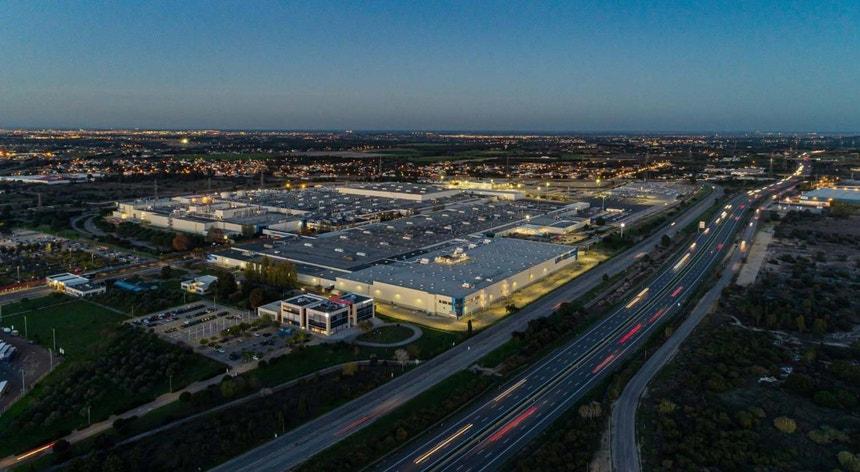 Imagem da fábrica da Autoeuropa