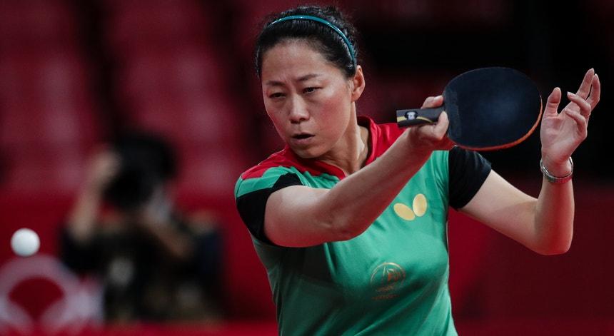 Fu Yu deu luta mas foi impotente para ganhar à atleta japonesa