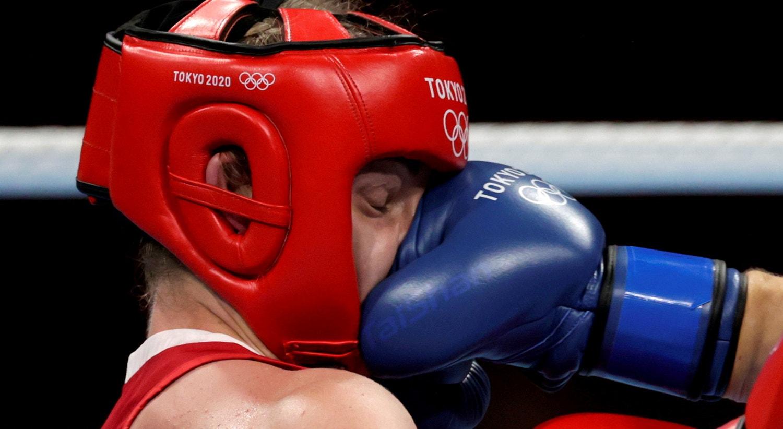 Semi-final de Boxe peso médio feminino.   Foto: Ueslei Marcelino - Reuters