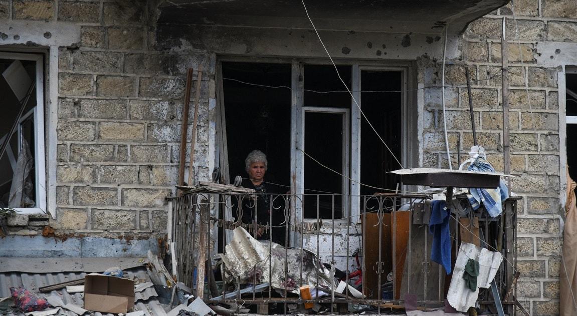 Stepanakert, destruição pós bombardeamento   Reuters