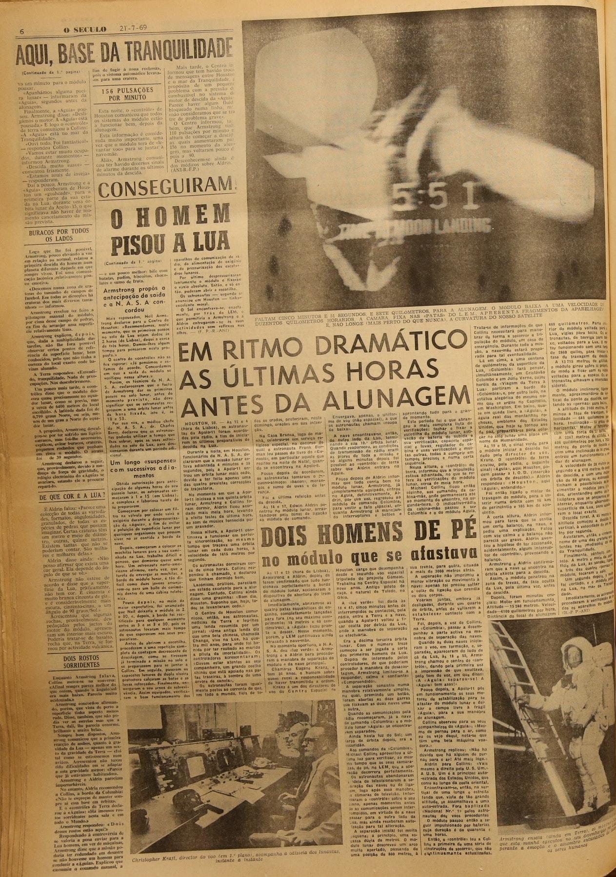 """Jornal """"O Século"""" (21 julho 1969)"""
