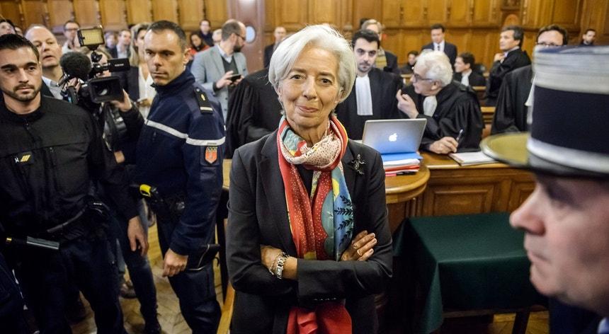Christine Lagarde fotografada a 12 de dezembro no Palácio de Justiça em Paris