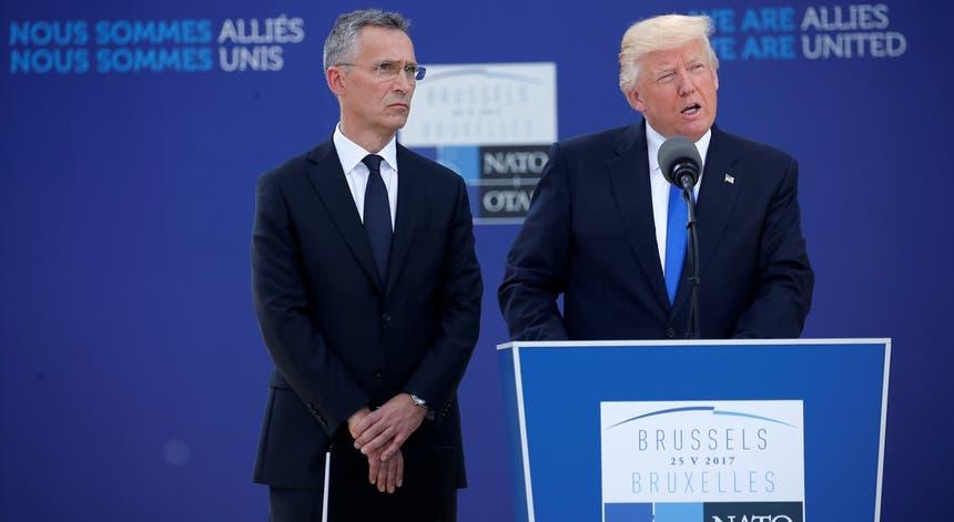 Donald Trump discursa pela primeira vez em cimeiras da NATO