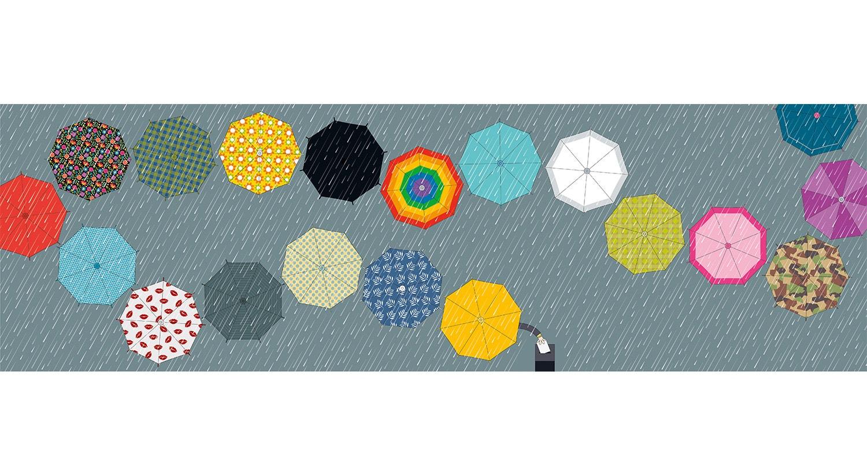 Domingo de chuva. Cartoon de Cristina Sampaio