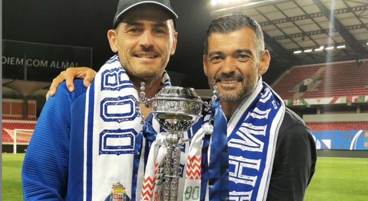Sérgio Conceição partilhou a Taça com Casillas