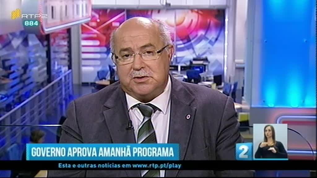 Hoje no Jornal 2 estará em destaque a mudança de Governo