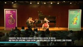 Festival Jovens Músicos 2017 - Trio da Orquestra Sinfónica Juvenil de Macau | 5 de Outubro de 2017 | 18h