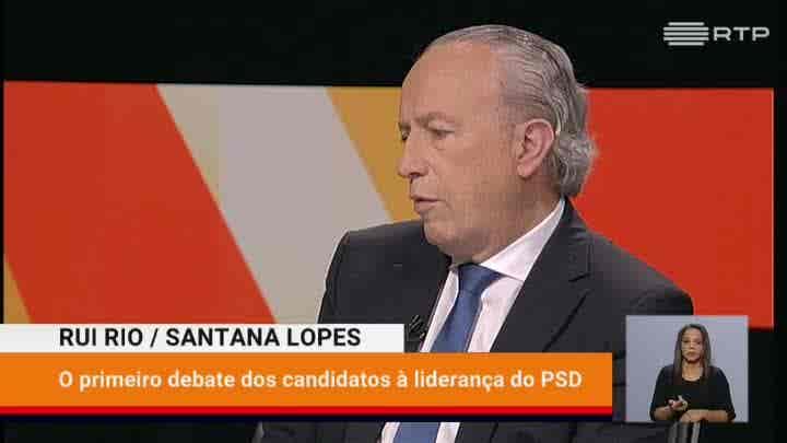Rui Rio/ Santana Lopes - O Debate