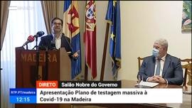 Apresentação do plano de testagem em massa na Madeira