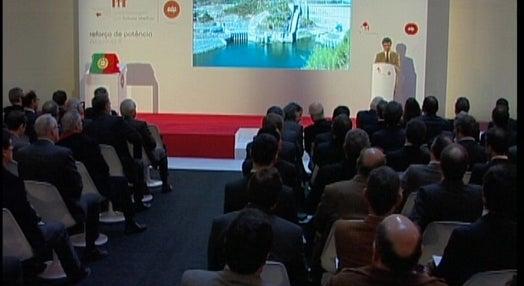 Inauguração da nova central hidroelétrica, na barragem de Alqueva