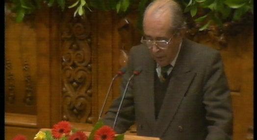 Homenagem a Francisco Sá Carneiro dez anos após a sua morte