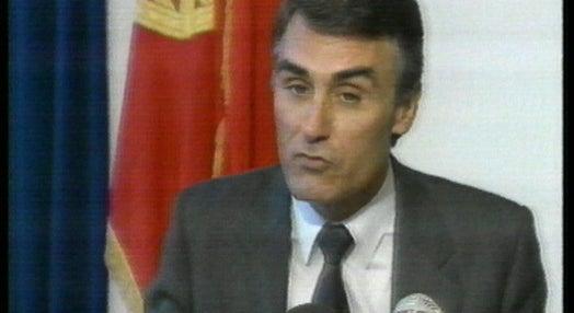 Conferência de imprensa de Cavaco Silva após a Cimeira da CEE