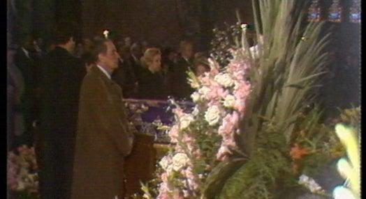 Cerimónias fúnebres de Madalena Perdigão