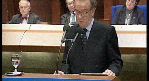 Discurso de Jorge Sampaio no Conselho da Europa
