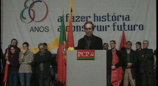 Comemoração do 80º aniversário do PCP